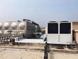 湖南岳阳平江人民医院项目-160立方方形不锈钢水箱